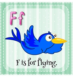 Flashcard letter f is for flying vector