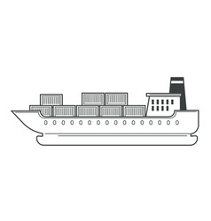 freight shipping and cargo ship water transport vector image
