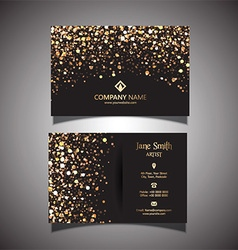 Gold glitter business card 1309 vector