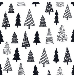 hand drawn christmas new year winter vector image