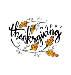 Hand drawn thanksgiving typography poster vector