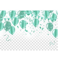 happy color background with glossy balloon party vector image