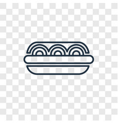 hot dog concept linear icon isolated on vector image