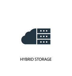 hybrid storage icon simple element vector image