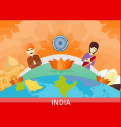 india travel poster vector image