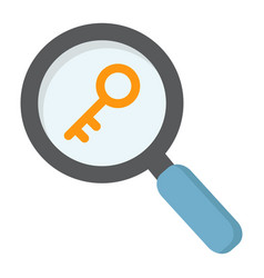 Keyword research flat icon seo and development vector