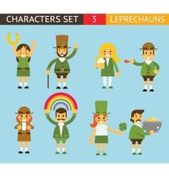 Leprechauns Ggnomes Characters set Celebration St vector image