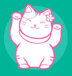 Lucky cat maneki neko japan 05 vector