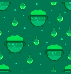 magic cauldron seamless pattern vector image