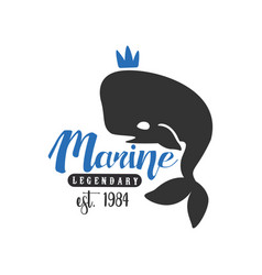 marine legendary logo est 1984 design element vector image