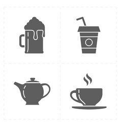 modern bar icons vector image