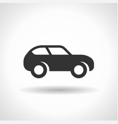 monochromatic car icon with hovering effect vector image