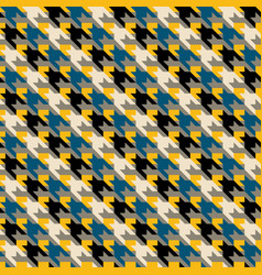 multicolor geometric abstract houndstooth seamless vector image