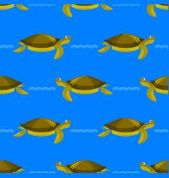 ocean turtle seamless pattern sea graphic simple vector image