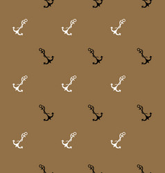 Old style seamless pattern with sea anchor vector
