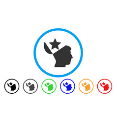 open head star rounded icon vector image