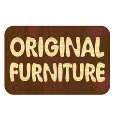 original furniture wood art inlay lettering vector image