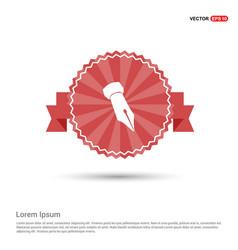 Pen nib icon - red ribbon banner vector