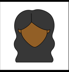 People avatar face woman icon vector
