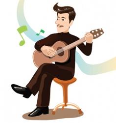 Play guitar vector