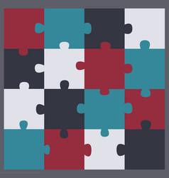 puzzle clip art icon vector image