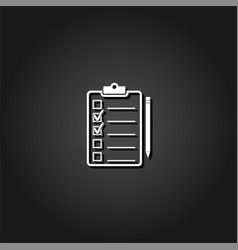 quality control icon flat vector image