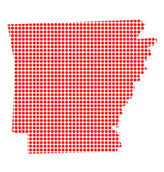 Red dot map of arkansas vector