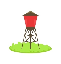 Red Water Barrel Cartoon Farm Related Element On vector