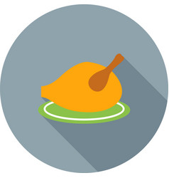 Roasted turkey vector