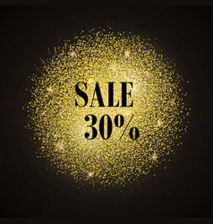 Sale-gold vector