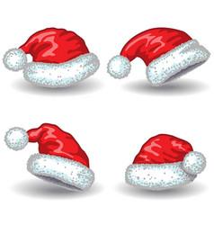 Santa Claus hats vector image