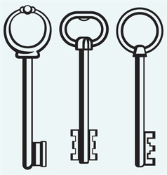 Silhouette of keys vector image