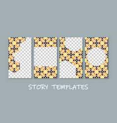 social media story templates collection vector image