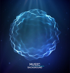 sound wave abstract neon background music vector image