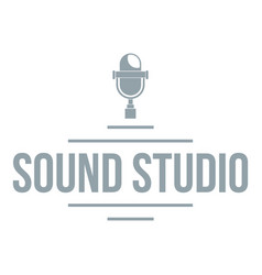 Stereo studio logo simple gray style vector