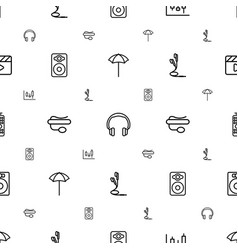 Studio icons pattern seamless white background vector