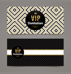 Template design for vip invitation vector