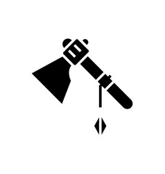 Tomahawk icon black sign on vector