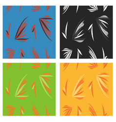 Tribal hand drawn background ethnic pattern set vector