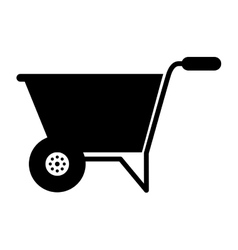Wheelbarrow tool gardening tool vector