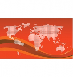 world graphic vector image