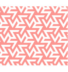 Zigzag crankle coral color seamless geometric vector