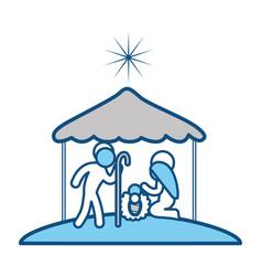Christmas manger symbol vector