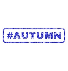 hashtag autumn rubber stamp vector image vector image