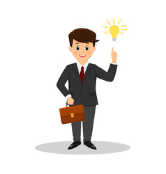 office worker with a briefcase vector image
