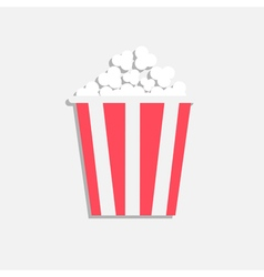 Popcorn Cinema icon in flat design style Isolated vector image vector image