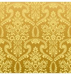 Seamless floral vintage gold wallpaper vector image