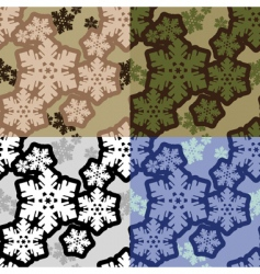 snowflakes camouflage vector image vector image