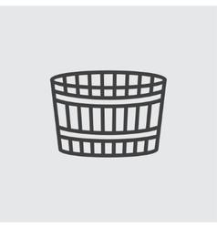 Wooden bucket icon vector image