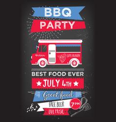 Barbecue party invitation BBQ template menu design vector image vector image